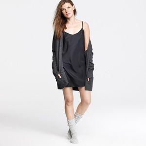 J Crew Silky Black Dress